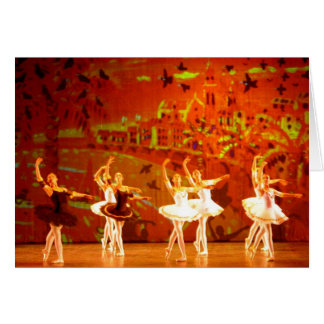 Tarjeta del arte: Puesta del sol ambarina. Ballet