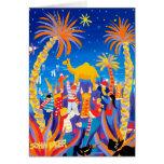 Tarjeta del arte: Tarjeta de Navidad del trofeo de