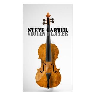 Tarjeta del artista de la música del jugador del tarjetas de visita