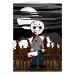 Tarjeta del asesino en serie de la máscara del hoc
