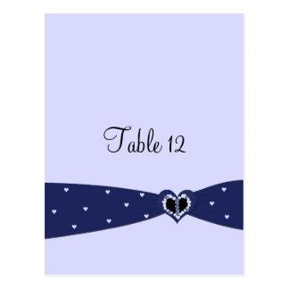 Tarjeta del asiento de la tabla de la cinta de tarjetas postales