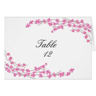 Tarjeta del asiento de la tabla de los flores - fl
