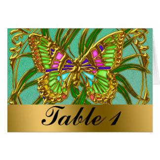Tarjeta del asiento de la tabla del boda de la mar