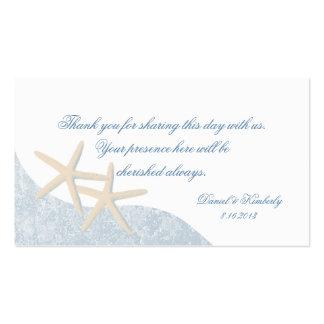 Tarjeta del asiento de las estrellas de mar del tarjetas de visita