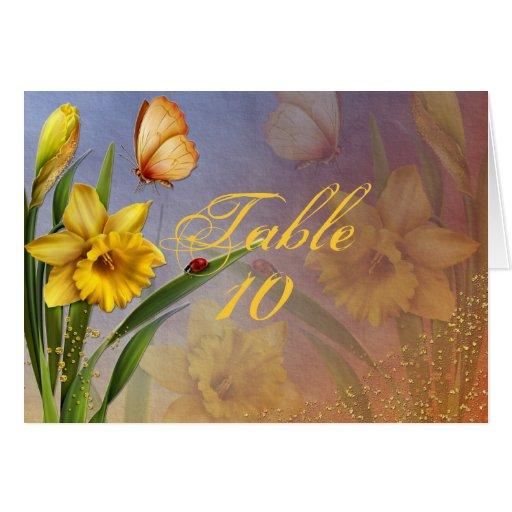 Tarjeta del asiento del boda de la flor y del brot