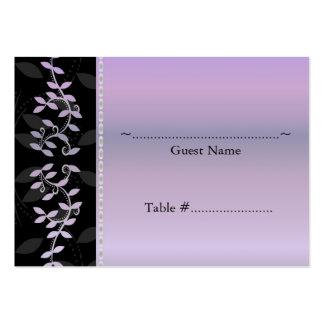 Tarjeta del asiento del boda de la frontera de la tarjeta de visita