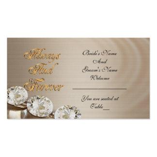 Tarjeta del asiento del boda siempre y para tarjetas de visita