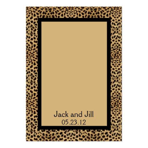 Tarjeta del asiento del estampado leopardo tarjeta de visita