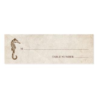 Tarjeta del asiento del Seahorse del vintage Tarjeta De Visita