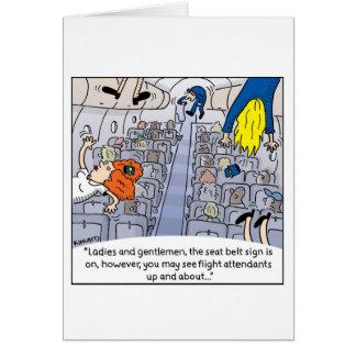 Tarjeta del asistente de vuelo -- Encima de y