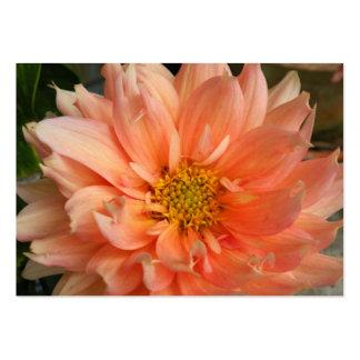 Tarjeta del ATC del flor de la dalia Tarjeta De Visita