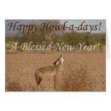 Tarjeta del Aullido-uno-Día del coyote de Kimberly