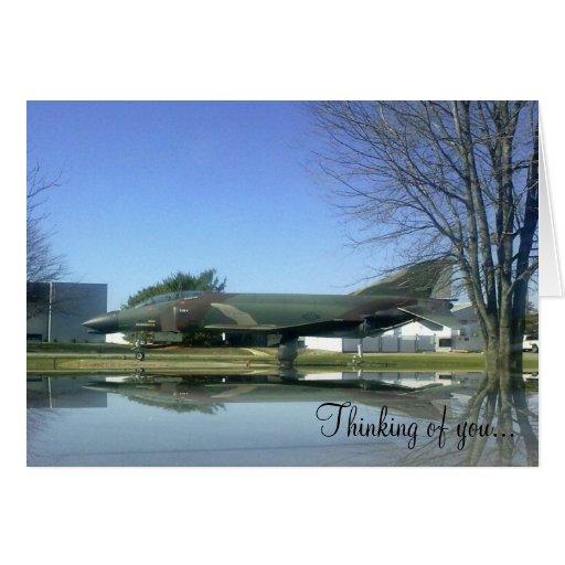 Tarjeta del avión de combate (F4-Phantom)