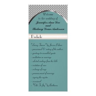 Tarjeta del azul, de plata y negra del boda del pr tarjetas publicitarias a todo color