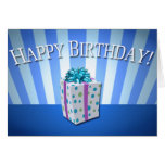 Tarjeta del azul del cumpleaños