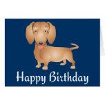 Tarjeta del azul del feliz cumpleaños del perro de