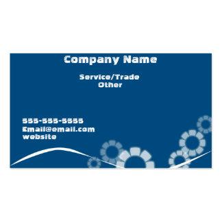 Tarjeta del azul del negocio del diseño simple tarjetas de visita
