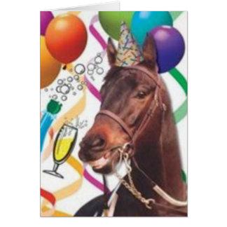Tarjeta del B-Día del caballo del fiesta