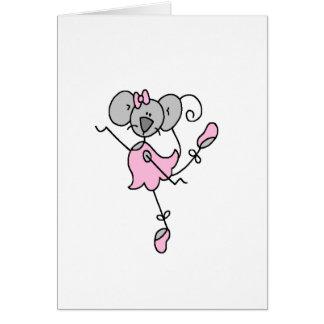 Tarjeta del ballet del ratón