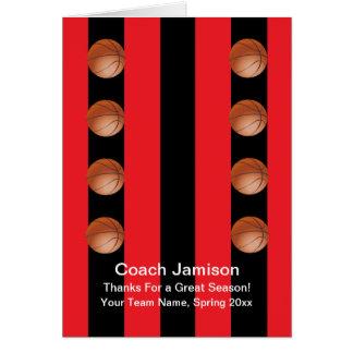 Tarjeta del baloncesto para el coche, rojo/negro,