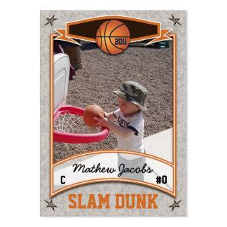 Tarjeta del baloncesto plantillas de tarjetas de visita
