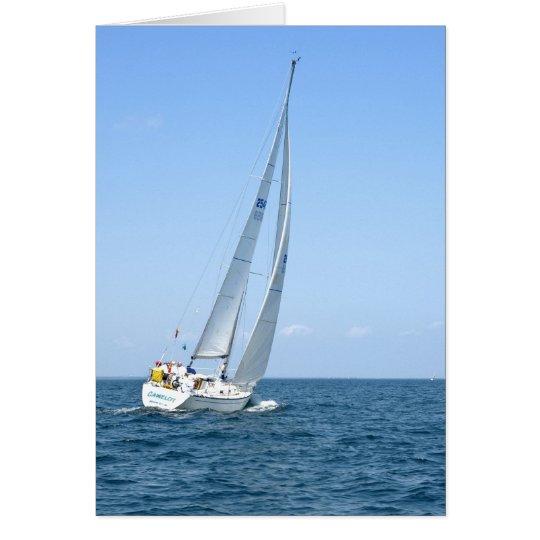 Tarjeta del barco de vela