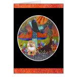 Tarjeta del batik del perro chino de la COSECHA MO