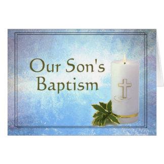Tarjeta del bautismo de nuestro hijo