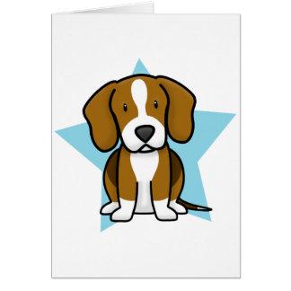 Tarjeta del beagle de la estrella de Kawaii