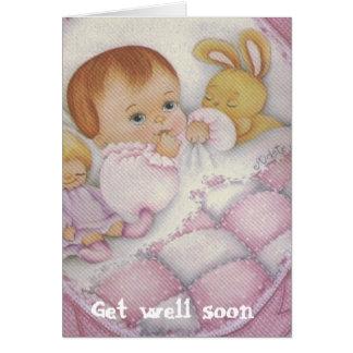tarjeta del bebé del cuidado