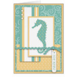 Tarjeta del bebé del Seahorse