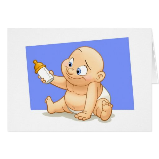 Tarjeta del bebé (espacio en blanco dentro)