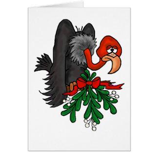 Tarjeta del beso del Emoticon del navidad