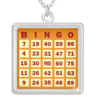 Tarjeta del bingo colgante cuadrado