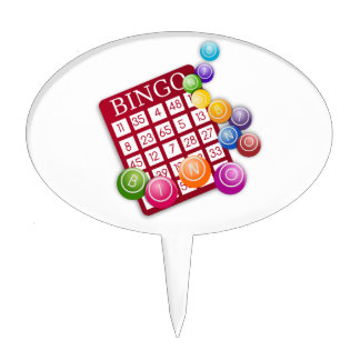 Tarjeta del BINGO con las bolas del BINGO Decoraciones Para Tartas