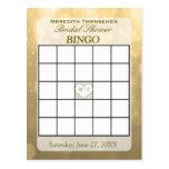 Tarjeta del bingo de Bokeh el | del oro Postal