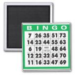 Tarjeta del bingo imán de nevera