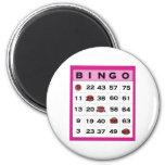 tarjeta del bingo imán para frigorífico