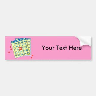 Tarjeta del bingo - juego a ganar - encantos de pegatina para auto