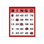 tarjeta del bingo postales
