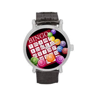 Tarjeta del BINGO Relojes De Mano