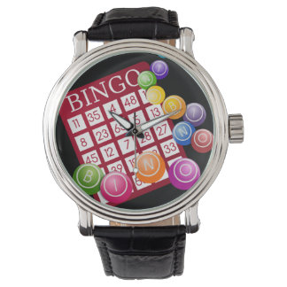 Tarjeta del BINGO Reloj De Mano