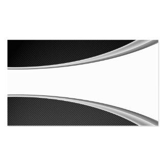 Tarjeta del blanco de la fibra de carbono plantilla de tarjeta de visita