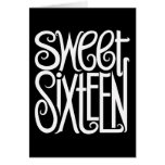 Tarjeta del blanco del dulce dieciséis