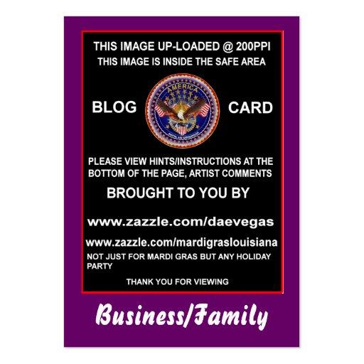 Tarjeta del blog cuál es él hora para el cambio no tarjetas de visita grandes
