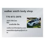 tarjeta del body shop del forjador del caminante tarjetas de visita grandes