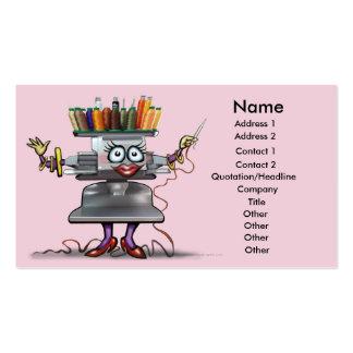 Tarjeta del bordado tarjetas de visita