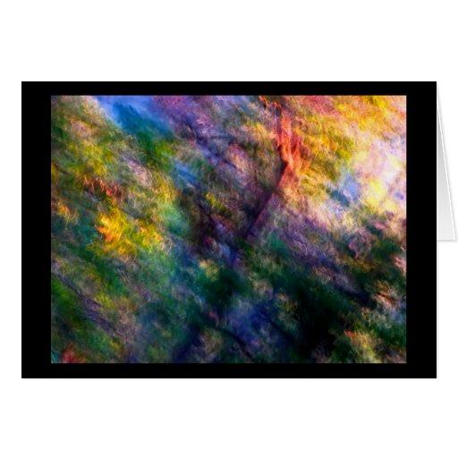Tarjeta del bosque del arco iris