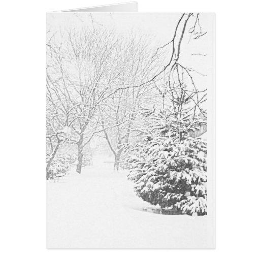 Tarjeta del bosquejo I del invierno