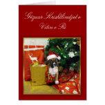 Tarjeta del boxeador de Gëzuar Krishtlindjet e Vit
